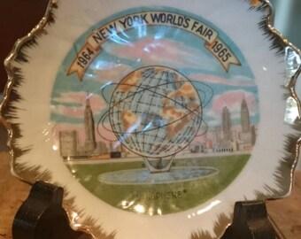 1964-1965 New York World's Fair Unisphere Collectible Plate