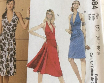 Sun Dress - McCalls Pattern - 3584 (DD)- Sewing Pattern - Halter Dress - Sizes UK 12-14-16-18 - Uncut Sewing Pattern - Easy Sewing Pattern
