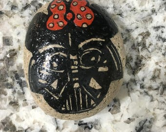 Hand Painted Vader Meets Minnie Rock