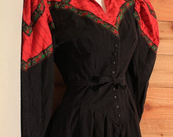 Throwback 1980's Country Western Dress