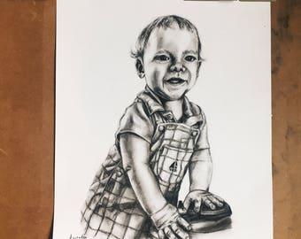 Custom Charcoal Portrait - 1 Person