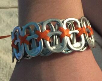 Orange Pop Tab Bracelet