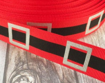 "1"" Santa Belt Collar with Side Release Buckle (D-Ring Martingale Option Available)"