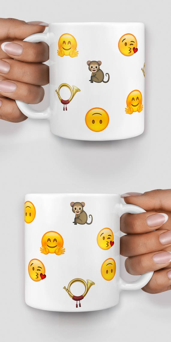 Customized emoji mug, personalise your mug with emojis - Christmas mug - Funny mug - Rude mug - Mug cup 4P074