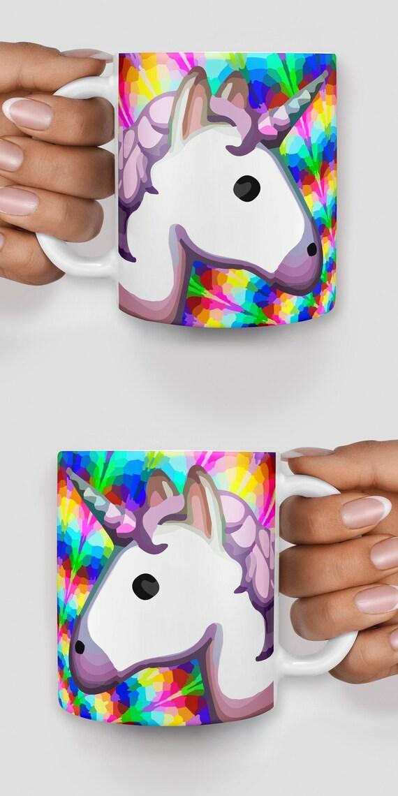 Rainbow unicorn emoji mug - Christmas mug - Funny mug - Rude mug - Mug cup 4P087