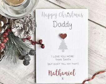 Daddy's Christmas Card, Daddy's Personalised Christmas Card, Personalised Daddy's Christmas Card, Dad Christmas Card, to Daddy card