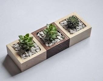 DIY Planter, Office Planter, Modern planter, Succulents plants, Flower pot wooden,  Reclaimed Wood,  Planter Gift