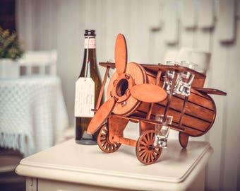 SALE Wine Rack Rustic Modern - Wine Glass Holder - Rustic Modern - Wine Rack Mount - Wine Bottle - Wine Glass - Housewarming - Gift