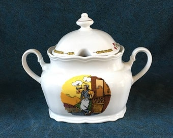 Vintage Winterling Bavaria Excl Puratos Wheat Baker Tureen