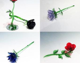 Valentine's Day - Glass Rose