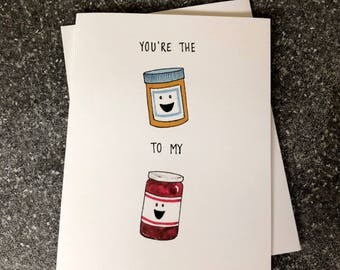 Peanut Butter and Jelly Friendship Card