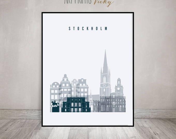 Stockholm print, Stockholm Poster, Wall art, Stockholm skyline, Stockholm cityscape, City poster, Travel prints, Home Decor, ArtPrintsVicky