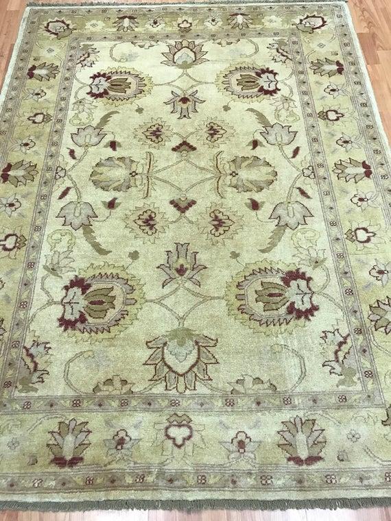 "4'10"" x 6'6"" Pakistani Peshawar Oriental Rug - Hand Made - 100% Wool - Veg Dye"