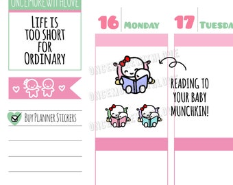 Munchkins -  Mom Life Bedtime Stories Reading Time Planner Stickers (M316)