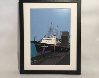 The Royal Yacht Britannia Framed Print