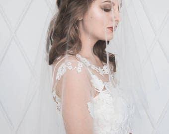 Circle drop veil, ivory veil, white veil, bridal veil, wedding veil