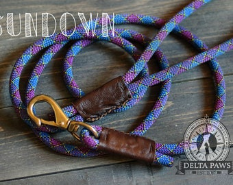 CUSTOM Sundown Leash || Rock Climbing Rope Dog Leash || Handmade in the USA