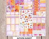 AUTUMN SUNSET Planner Stickers| sized for Happy Planner | Weekly Planner Sticker Kit Set | HP3 a-g