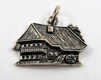 Romantik Hotel Schwarzwald in the Black Forest in Southwest Germany 800 Silver Charm of Pendant.
