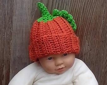 Pumpkin Hat, Fall Hat, Photo Prop, Crochet Halloween Costume, Pumpkin Beanie Thanksgiving Pumpkin Hat, Halloween Pumpkin Hat