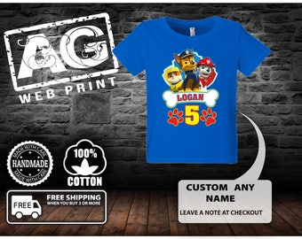 Paw patrol family birthday shirt,