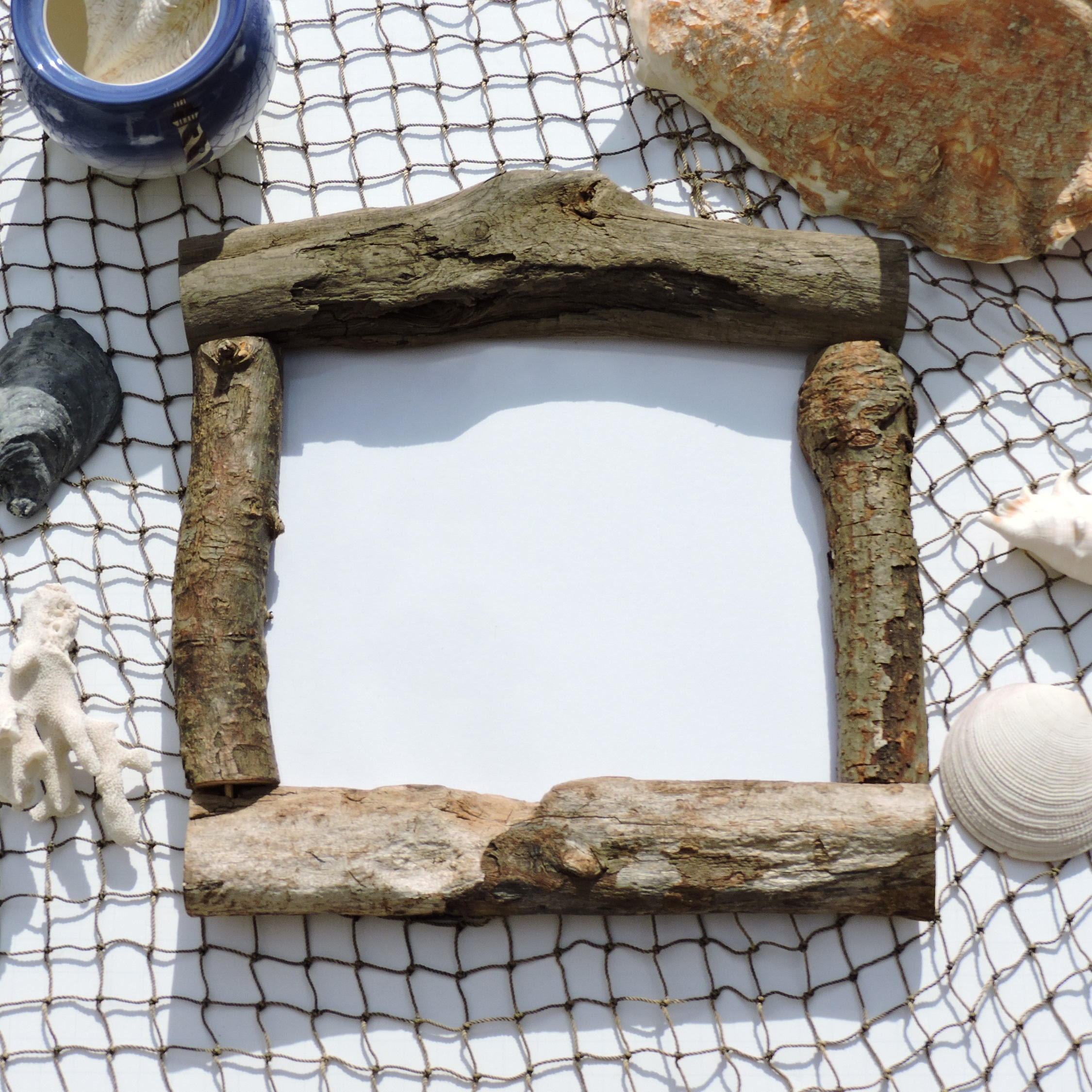 8x10 2032cmx254cm real driftwood frame bohemian frankieframeshop 056 - Driftwood Picture Frame