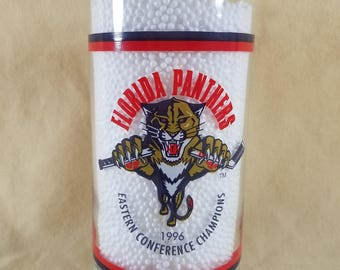 Florida Panthers ~ Tumbler ~ Panthers Hockey ~ 1996 Eastern Conference Champions ~ Collectible ~ Drinking Glass ~ Seths Vintage Emporium
