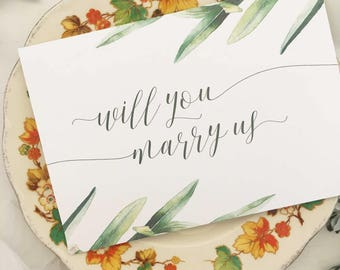 Will you be our officiant gift wedding officiant wedding card