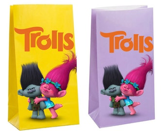 Trolls Party Favor Bag ~Trolls Party Inspired Decorations & Decor