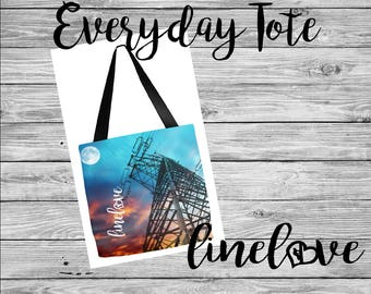 Everyday Linelove Tote Linewife Lineman's Wife Bag