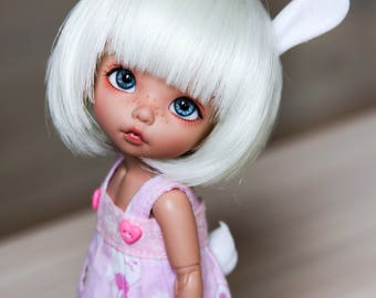 Magnetic Bunny ears and tail for tiny, 1/8 bjd doll