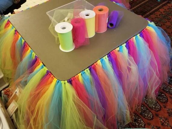 Tulle Table Skirt Party Tutu Unicorn