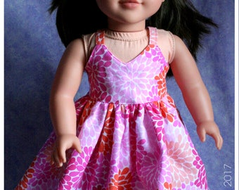 18 Inch Doll Clothing Floral Spring Strappy Sundress Dress