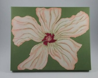 Hibiscus Flower/8x10 Canvas Painting