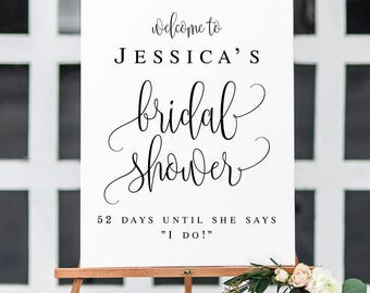 Bridal shower welcome sign Editable template Welcome sign Bridal shower decorations Rustic sign Boho bridal brunch decorations Editable pdf