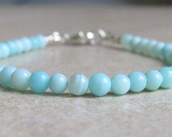 Peruvian Blue Opal Beaded Bracelet