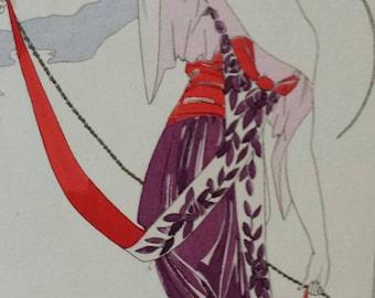 1913 Rare COSTUMES PARISIENS Art Nouveau original pochoir fashion plate 106
