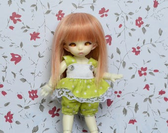 Outfit Pico green dot [1/12 Pukipuki BJD.