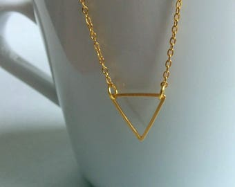 Triangle. Necklace.