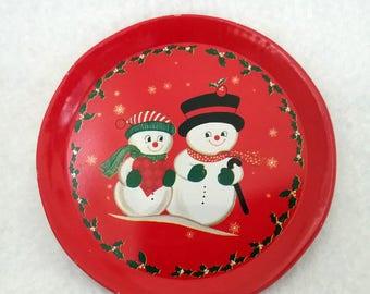 Vintage Metal Christmas Coasters - 4 piece
