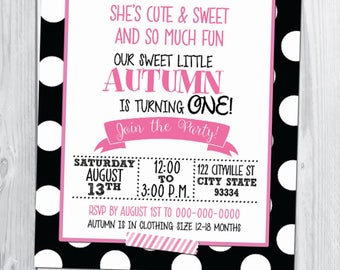 Minnie Mouse Themed Birthday Invitation