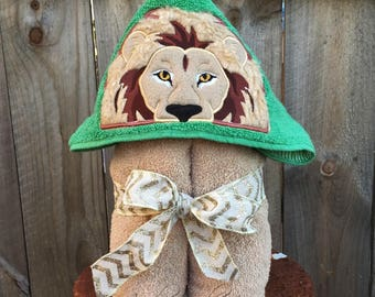 Lion Hooded Towel