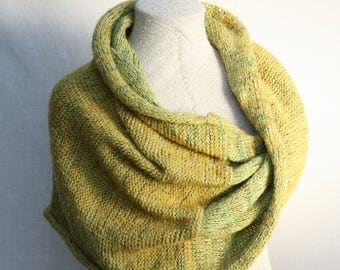 Bridesmaid shawl capelets / Mohair scarf / Cozy oversized neck wrap / Fall scarf boho / Bridal capes / Infinity cowl - green neon