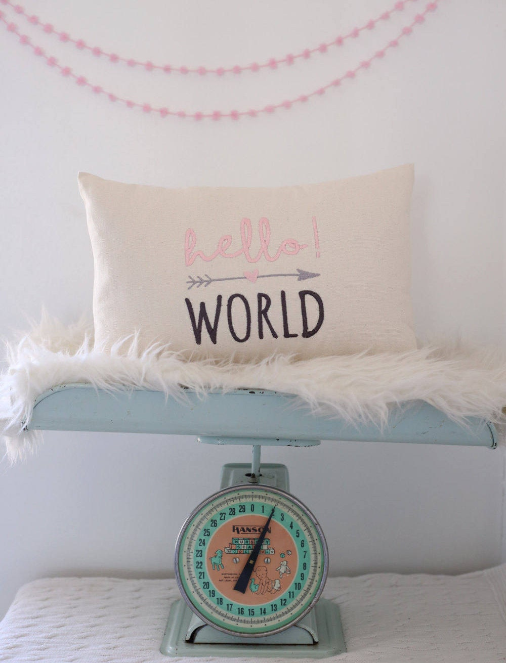 Baby Girl Pillow Cover, Baby Boy Pillow Cover, Embroidered Baby Pillow  Cover, Babies Room Decor, Nursery Decor, Farmhouse Nursery, Baby Gift