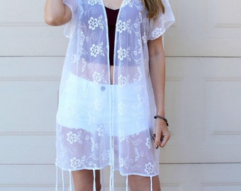 Lace kimono | Etsy
