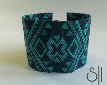 Blue miyuki bracelet