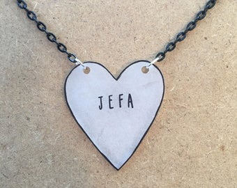 Jefa : Heart-Shaped Necklace