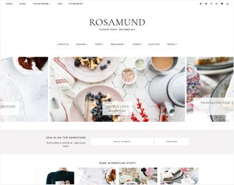 NEW! Rosamund | Responsive Blogger Template With LANDING PAGE + Free Installation