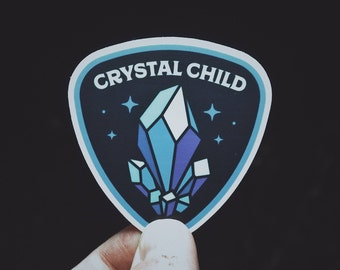 "Crystal Child Sticker - 2.5"" Durable Vinyl Sticker - Crystal, Indigo, Rainbow Child -  Weather Resistant - For Crystal Lovers & Rock Hounds"