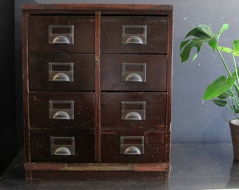 Vintage Industrial Chest of Drawers - Filing Cabinet Haberdashery Storage Unit